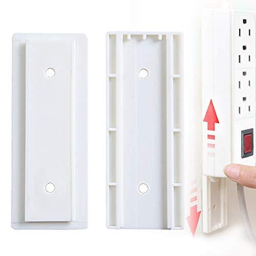 RYCHUI 2 Sätze Power Board Halter, Steckdosenleiste - Wandhalterung - Selbstklebendes Kabelmanager für Computertisch, Organisation von TV-Wänden, Küchen, zu Hause oder im Büro