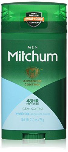 Mitchum Advanced Control invisible en bâton, de contrôle Clean, 75 ml (pack de 2)