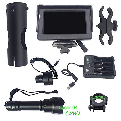 Jiayes Appareil à Vision Nocturne numérique, Scope de Vision Nocturne numérique pour Fusil de Chasse Vision Nocturne IR Vision Nocturne Écran de visualisation HD 25.4mm+5w