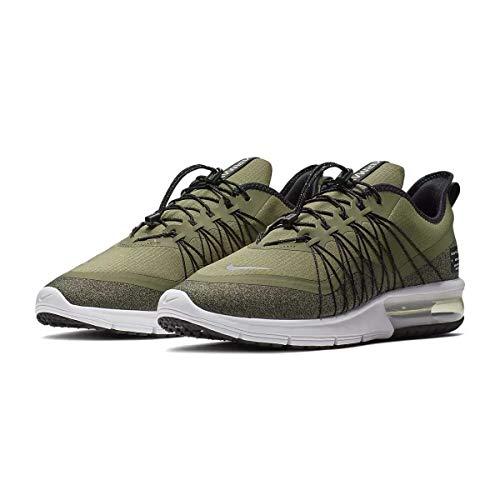 Nike Air Max Sequent 4 Utility Herren Running Trainers AV3236 Sneakers Schuhe (UK 10 US 11 EU 45, medium Olive metallic Silver 201)