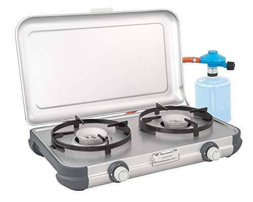 Campingaz Camping Kitchen 2 CV Stove, Portable Two Burner Gas Cooker, Outdoor Grill