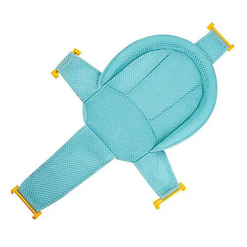 Asiento de apoyo para baño de bebé, malla para ducha de recién nacido, ajustable, cómodo, antideslizante, para bebé, verde, 1 unidad