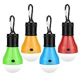 solawill LED da Campeggio, 4 Pezzi Lampade LED Campeggio Portatile, Lampada LED da Campeggio, Lampada Portatile per Tenda, Impermeabile e 3 modalità, Adatto per Campeggio Escursionismo Pesca Barbecue