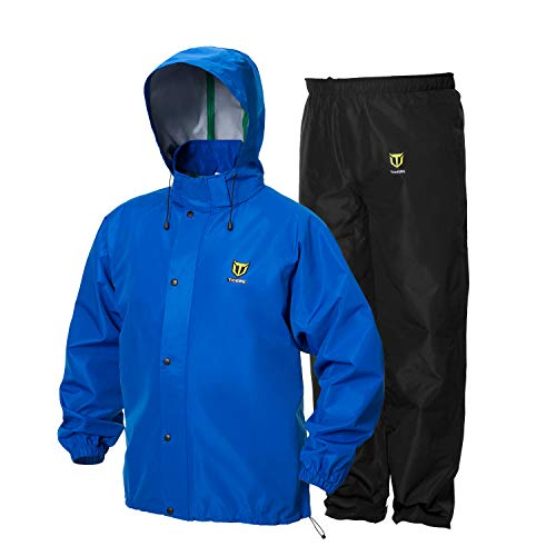 TideWe Rain Suit, Breathable Waterproof Durable Sport Rainwear (Blue Size XXL)
