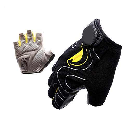 Cycling Gloves XYBB Cbr Cycling Gloves Bicycle Bike Racing Sport Mountain Mtb Cycling Glove Breathable Cycling Gloves M black yellow