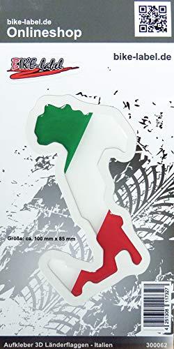 Bike Label 300062N 3D Aufkleber Flaggen Italy Italien Stiefel 100 x 85mm