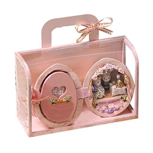 WYD Seed Series Assembling Doll House, Walnut Scenario Building Cabin,Tiny Mini Kit, DIY Kawaii Craft, Christmas Birthday Wedding Gift (Wedding Time)
