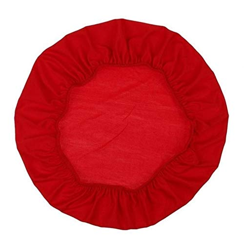 YAYANG Chair Cover Büroküche Spandex Elastische Stuhlabdeckung Vollfarbige Sitzschützer Stretchkoffer Durable Anti-Dirty-Stuhl-Sitzbezug Casual (Color : Red, Specification : 45cm 50cm)