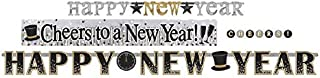 amscan Happy New Year Letter Banners, Multipack, 4 Ct. | Party Decoration