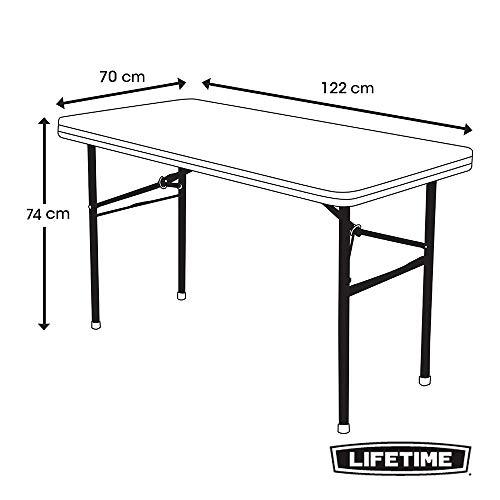 LIFETIME 4446 Mesa Plegable Multiusos Ultrarresistente, UV100, 122 ...