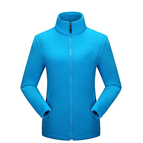 Chaqueta térmica de senderismo para mujer, azul, 4XL