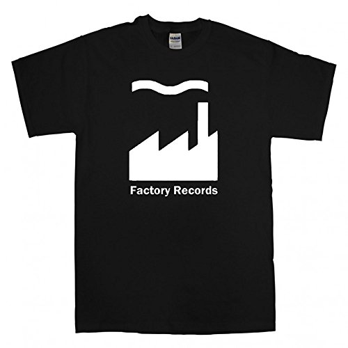 EMIS Print Factory Records Imprimé T-Shirt pour Homme - Noir - Moyen