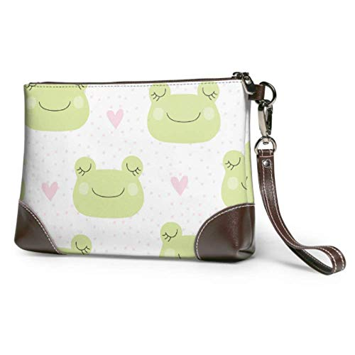XCNGG Weiche wasserdichte Mann Clutch Bag Leder Frosch Cute Animal Cartoon Makeup Clutch Bag mit Reißverschluss für Frauen Mädchen
