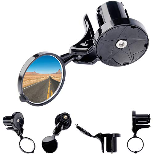Suhome Bicycle Mirrors for Handlebars, 360º Rotatable and Foldable Lightweighted Handlebar Mounted Rearview Mirror for Bike Road and Mountain Cycling