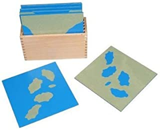 D & D Distributor Montessori Sandpaper Land and Water Form Cards
