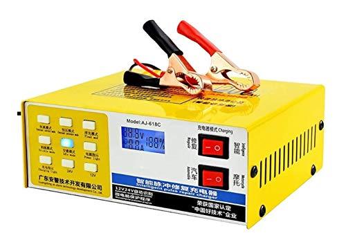 DWhui Autobatterieladegerät 12V / 24V intelligenter Pulsreparaturschutz, geeignet for die Kapazitäts 60AH-200AH Wasserbatterie, Trockenbatterie, Blei-Säure-Batterie, wartungsfreie Batterie