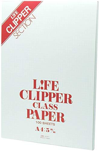ライフ レポート用紙 クリッパー A4 方眼 2冊セット G1371-2P