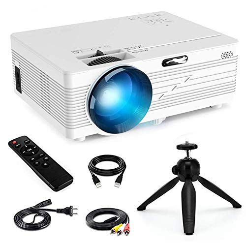 Projector Mini Portable Projector Upgraded 2200 Lumens LED Full HD Video Home Theater Supports 1080p HDMI/VGA/USB/SD Card/AV Input PS4 Video Gaming Chromecast for Family Entertainment