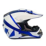 Casco De Motocross Casco De Moto Integral Conjunto De Casco MTB con Gafas, Guantes, Máscara para Moto De Cross Off-Road Cuesta Abajo,L