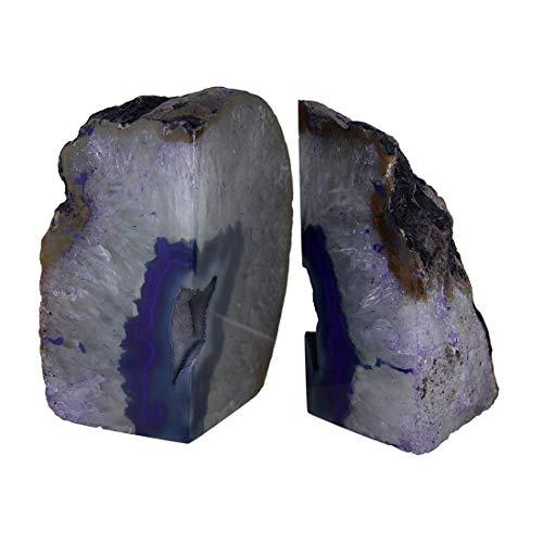 Things2Die4 Gran pulido morado geoda Ágata de Brasil sujetalibros 7–11libras