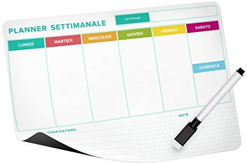 Calendario magnético frigorífico (planificador semanal)