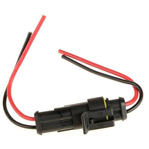HOUTBY™ 2-Polig Kabel Steckverbinder Stecker Wasserdicht Schnellverbinder Elektrisch Ausrüstung KFZ