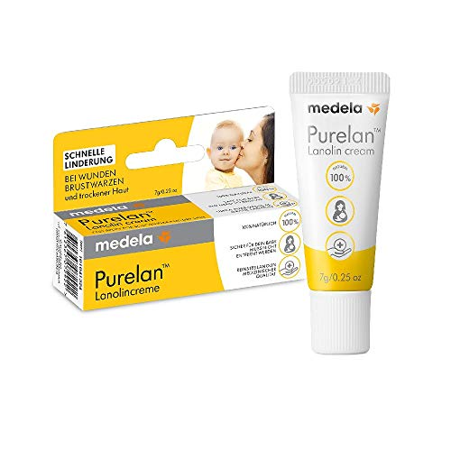 Medela Purelan Nipple Ointment 7g Lanolin Cream Quick Relief for Sore Nipples and Dry Skin