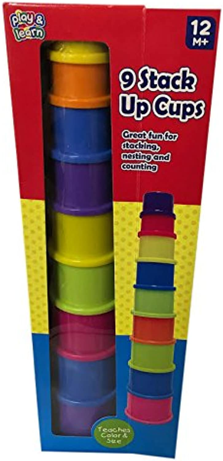 Stack Up Cups 9piece Play Set is ideal for stacking, nesting and counting. by Stack Up