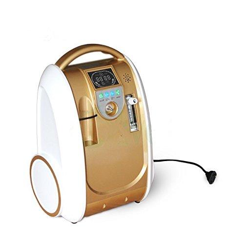 Generador de concentrador de oxígeno portátil de grado médico 1-5L/min 90% ± 3% máquina de alta concentración con función aniónica, bajo ruido y silencioso para uso en el hogar