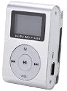 DishyKooker Silver Mini MP3 Player Clip USB FM Radio LCD Screen Support for 32GB Micro SD Practical Electronic Product