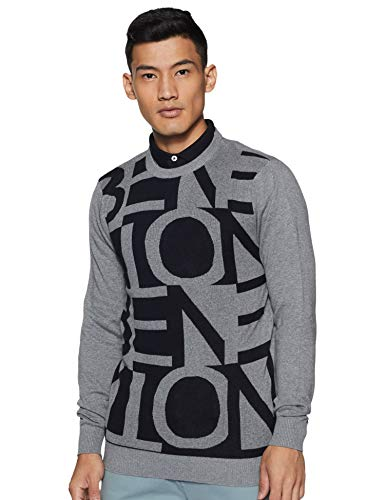 United Colors of Benetton Men's Cotton Sweater (19A1JCQK1036I_901_S_Grey_S)