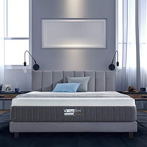 BedStory 12 Inch Gel Memory Foam Mattress King, Bamboo Charcoal Infused Breathable Bed Mattress CertiPUR-US Certified Foam, 10-Year Warranty