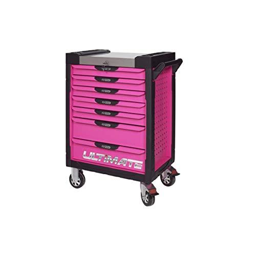 KS Tools 818.0007 Werkzeugwagen Ultimate Rose, 7 Schubladen, weiß