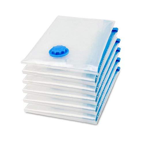 DierCosy Bolsa de vacío del ahorrador del Espacio Bolsa de Almacenamiento Transparentes Frontera Plegables 90 * 110cm Sello Organizador Comprimido Bolsas