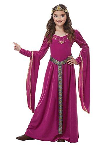 Girls Medieval Princess Costume X-Large