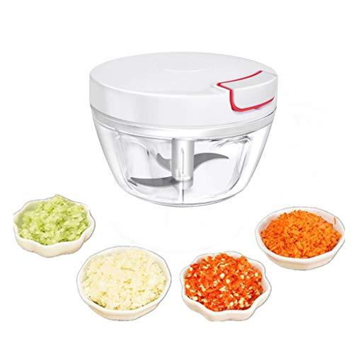 Hachoir manuel à tirer, hachoir à légumes, salade ail pour salsa pesto oignons (390 ml)