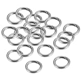 uxcell Stainless Steel O Ring 20mm(0.79') Outer Diameter 3mm Thickness Strapping Welded Round Rings 20pcs
