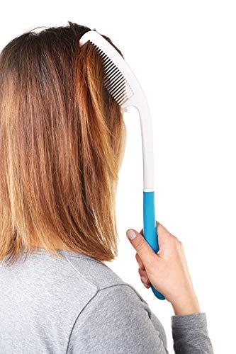 TronicXL langer Senioren Haar Kamm mit langem ergonomischen Griff Hilfsmittel ergonomisch Körperpflegehilfe XXL Handgriff Stil