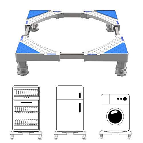 DEWEL Einstellbare Waschmaschinen-Untergestell Sockel(Einstellbare Größe:Länge&Breite 43 cm-67...