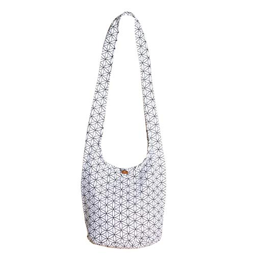 PANASIAM Shoulderbag'Flower of Life', in white, M
