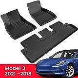 TAPTES Alfombrillas para todo tipo de clima para Tesla Model 3 2018 2019 2020 2021, suelo 3D para Tesla Model 3