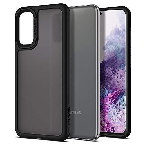 CYRILL Funda Spigen Color Brick Compatible con Samsung Galaxy S20, (2020) (6,2 Pulgadas), Mate, Parte Trasera de policarbonato Semitransparente con TPU Suave, Color Negro