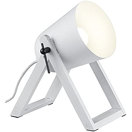 Reality Leuchten R50721031 Marc Lampe de Table, Blanc