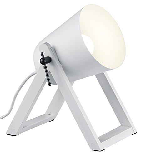 Reality Leuchten R50721031 Marc A++ to E, Tischleuchte, E27, Weiß, 12.5 x 19.5 x 21 cm