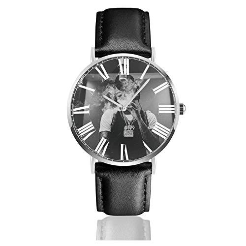 Reloj de Pulsera G Herbo Durable PU Correa de Cuero Relojes de Negocios de Cuarzo Reloj de Pulsera Informal Unisex