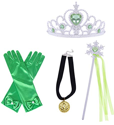 HenzWorld Princess Dress Up Costume Accessories Gloves Tiara Crown Wand Necklace Presents for Little Kids Girls 3-14 Years