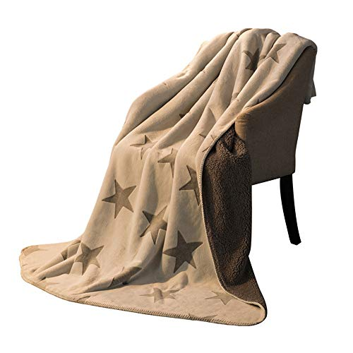 Chengzuoqing Kuscheldecke Flanell-Vlies Blanket Penta Leichte Cozy Plüsch Mikrofaser Bett Decke for Couch-Sofa-Bett 180x200cm für Schlafsofa und Stuhl (Color : Coffee, Size : 180x200cm)