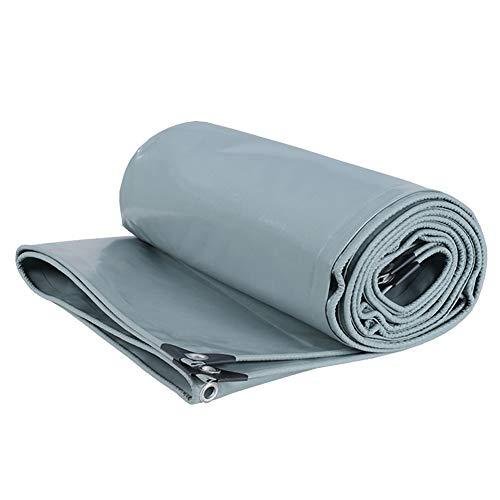 JLXJ Bâches de Protection Bâche Résistante Grise, Bâche D'isolation Imperméable À l'eau Imperméable en Plastique de PVC de Double Face, pour la Couverture de Piscine de RV de Bateau de Tente D'auvent