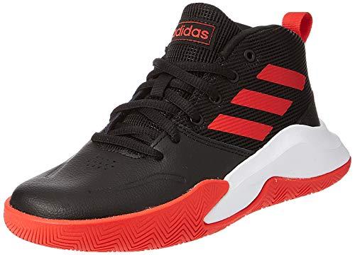 adidas Unisex-Kinder Ownthegame K Wide Basketballschuhe, Cblack/Actred/Ftwwht, 35 EU