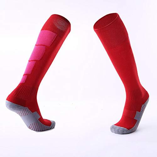 Nihlssen 1 par de calcetines deportivos antideslizantes de fútbol para hombre, calcetines de fútbol hasta la rodilla por encima de las medias largas, calcetines altos para canasta de béisbol, deportes